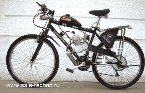 Велосипед с мотором в сборе