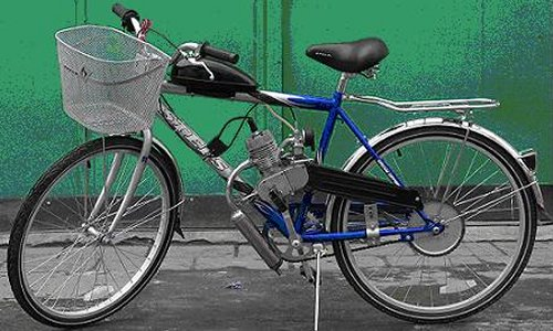 Велосипед с двигателем в сборе